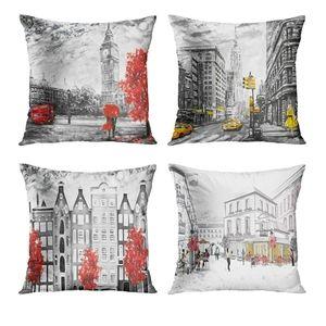 Autumn  Set of 4 Pillow Cases 18x18